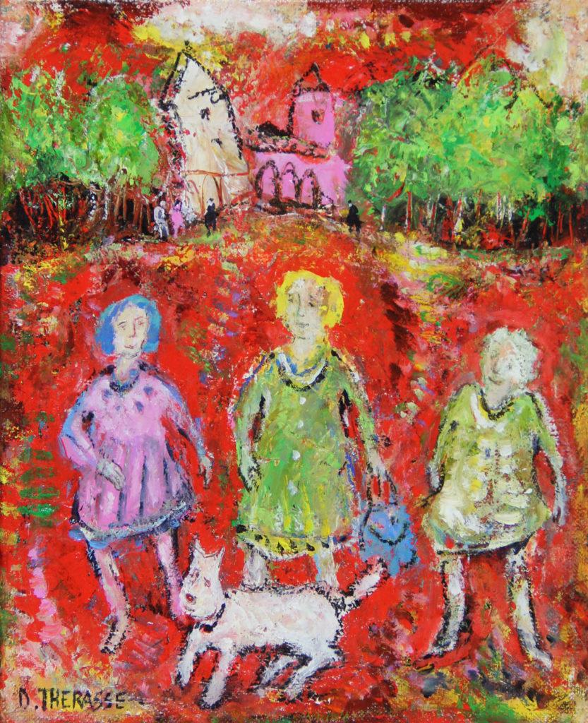 THERASSE_Les fillettes et le petit chien